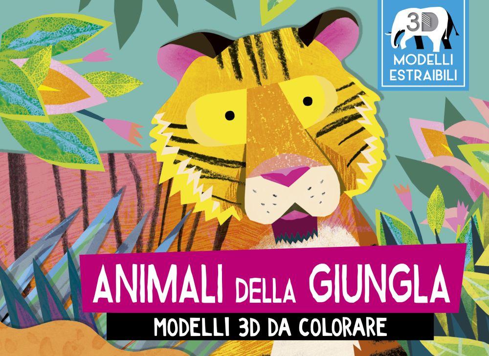 Animali Della Giungla Modelli 3d Da Colorare Picarona Libri Per
