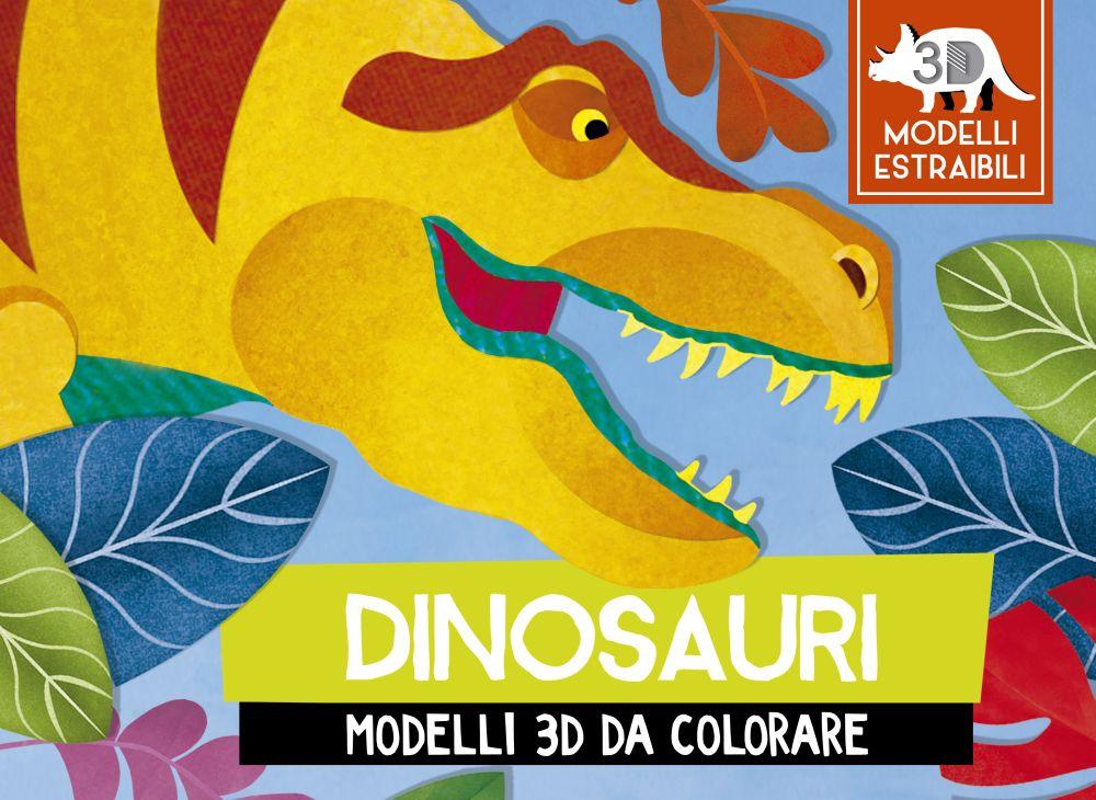 Dinosauri Modelli 3d Da Colorare Picarona Libri Per Bambini